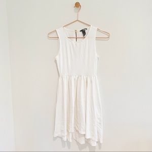 H&M White High Low Dress